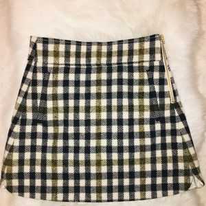 NWT J Crew Wool Plaid Mini Skirt Size 4